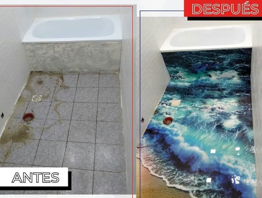 piso antes y despues