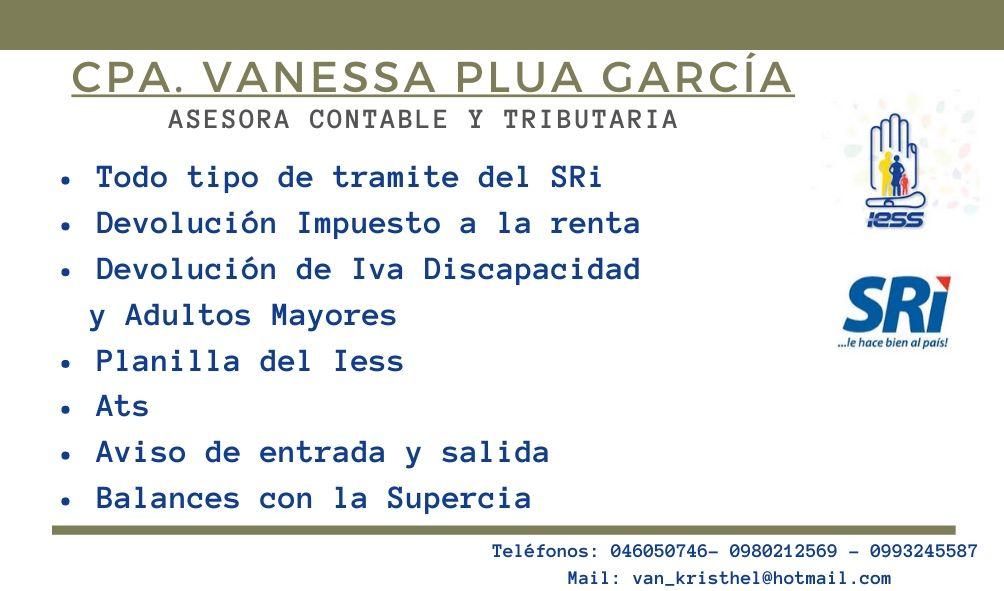 CPA. Vanessa Plua Garcia