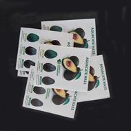 etiquetas para exportadores de aguacates impresas en adhesivo de alta seguridad