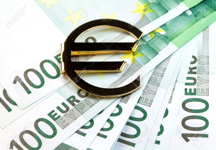13208237-the-money-euro-bundle-of-bank-notes-and-golden-sign