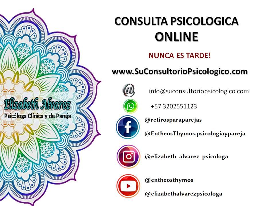 CONSULTORIO PSICOLOGICO ONLINE TERAPIA DE PAREJA ELIZABETH ALVAREZ