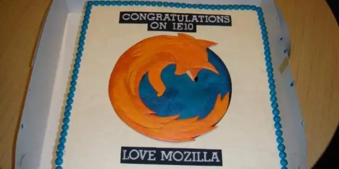 Mozilla envía una tarta de Firefox a Microsoft