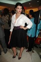 Crystal supo hacerse un hueco en el mundo de la moda y ha sabido reinventarse con sus continuos vaivenes de peso. En la imagen, la maniquí en 2006 en una fiesta de Jean Paul Gaultier.
