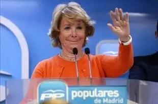 Esperanza Aguirre estalla contra su partido