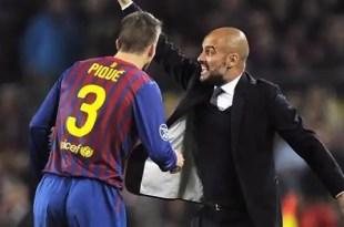 Guardiola mandó a espiar a Piqué y Shakira