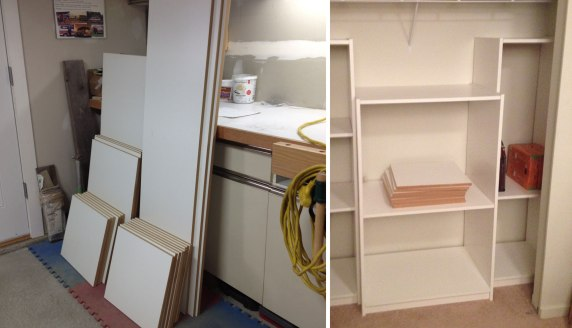 From pieces of mdf to a custom storage unit