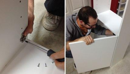 Installing the shelf door