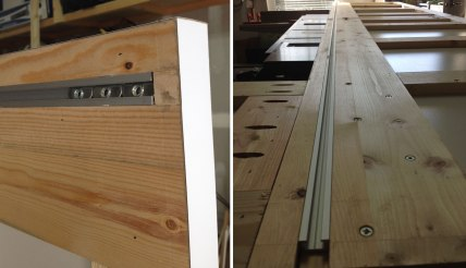 The task desk will run along this track that is inset into the underside of the desk top