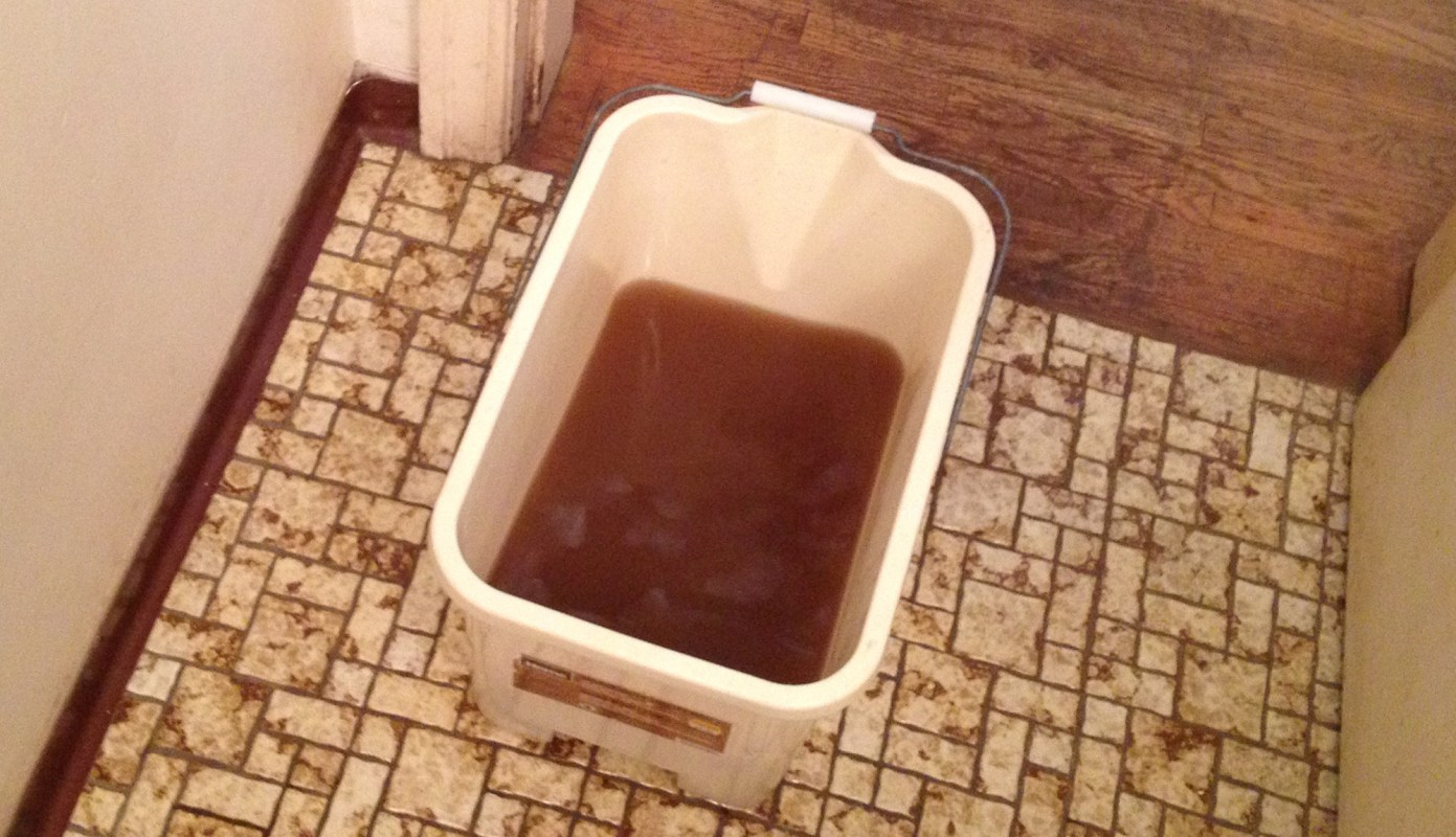 4L of TSP was lost in the cleaning of this place.  This bucket WAS clean water