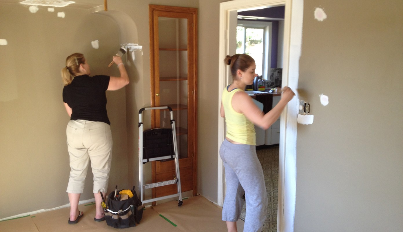 Dining room patching and painting