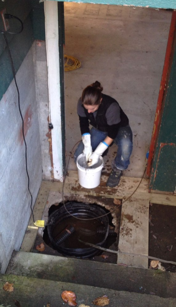 Cleaning out the sump pump