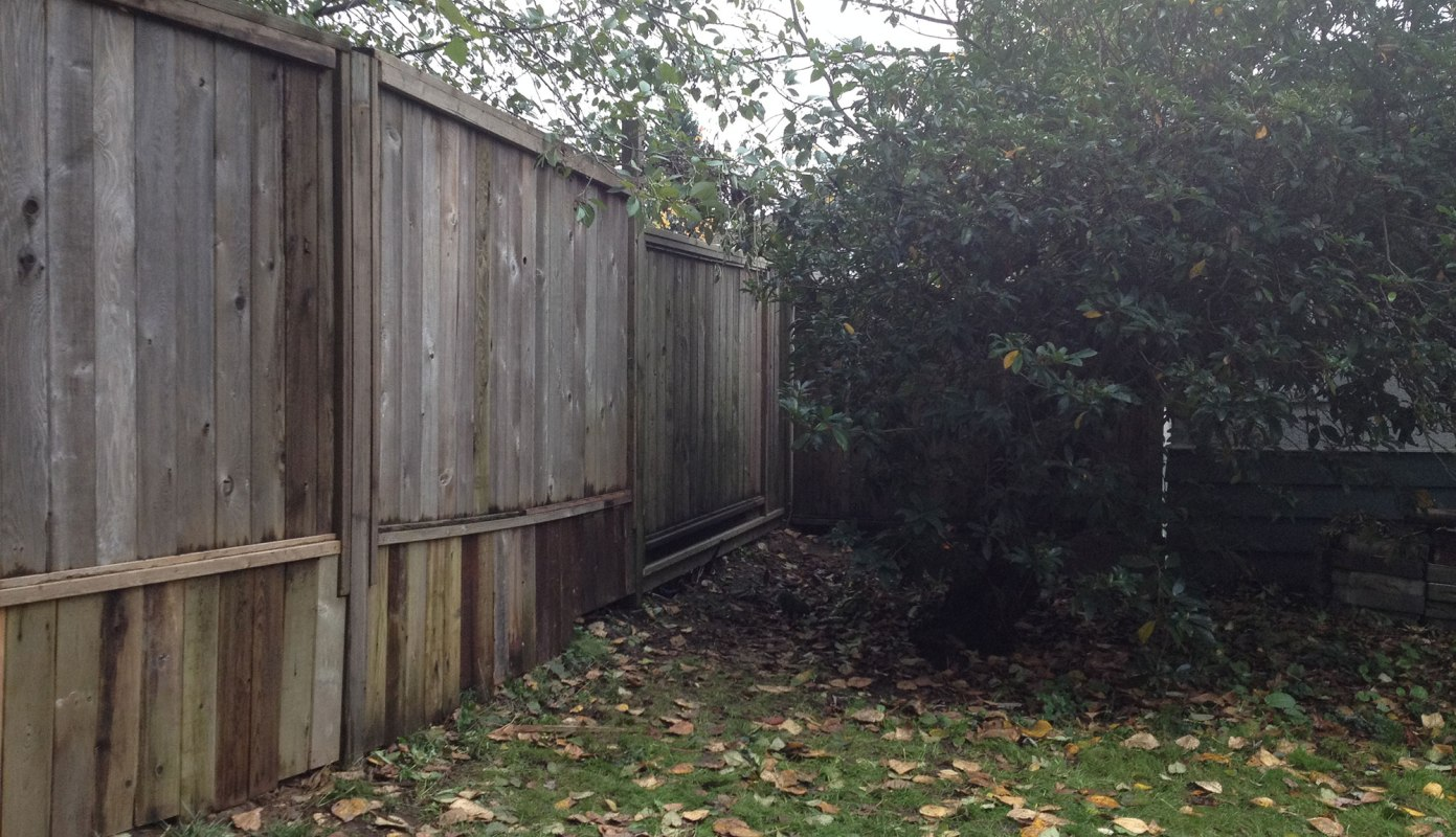 We resupported the fence from the back