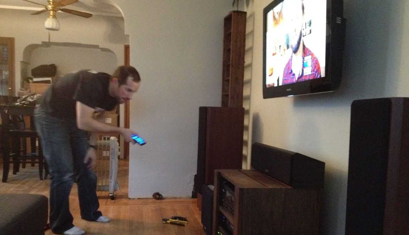 Look at the happy AV nerd playing with his technology :)