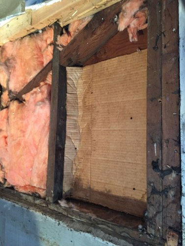 Cardboard as insulation. Odd.