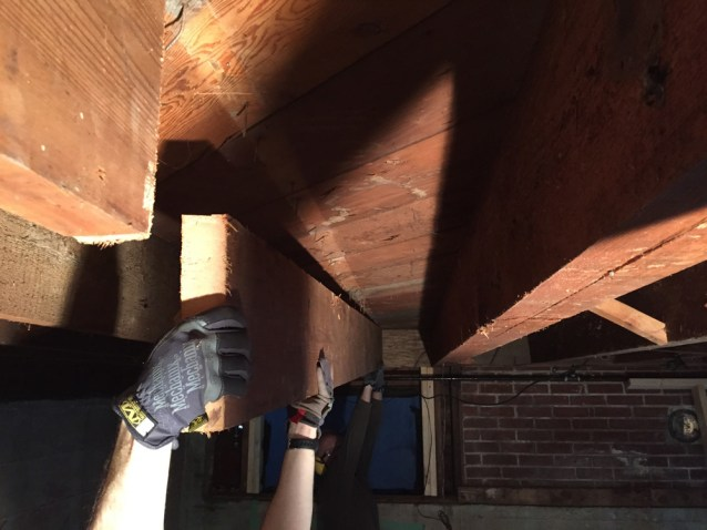 Removing joists to be replaced by beams