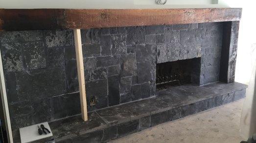 Reclaimed wood mantle beam