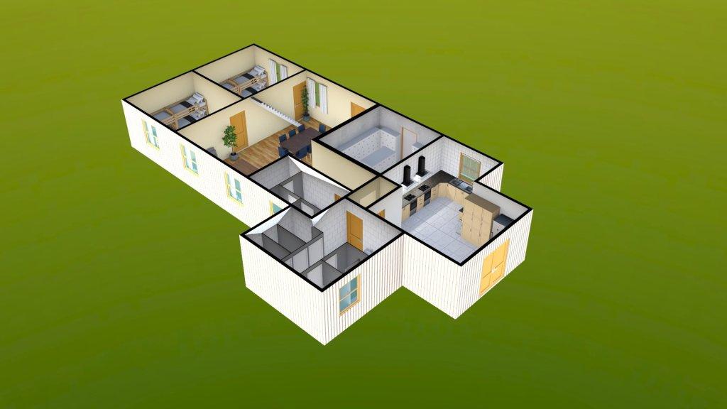 Sit Perpetuum Lodge - Ground Floor Render 2