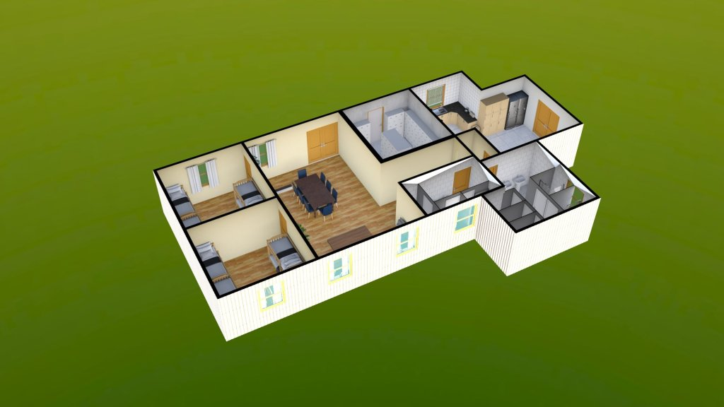 Sit Perpetuum Lodge - Ground Floor Render 3