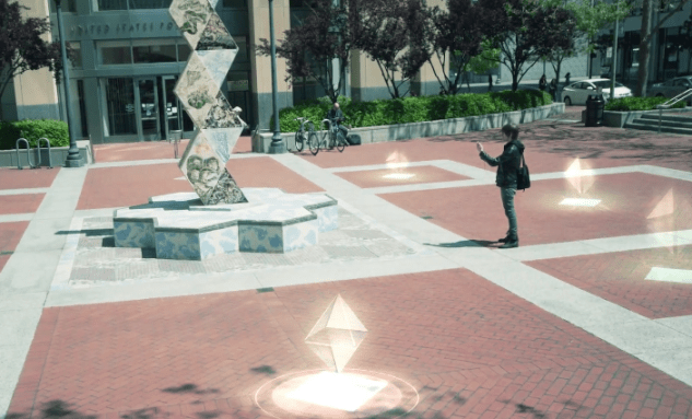Ingress' field of play is the world, layered with virtual data.