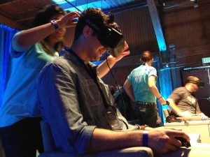 Oculus being demonstrated at F8.