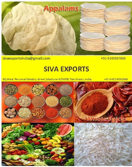 Siva Exports - Papad Manufacturer in India, appalam,papadum,papadam,pappad,pappadum,pappadam,