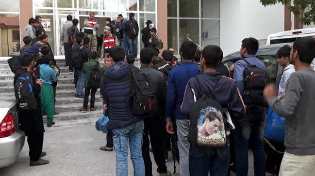 Sivas'ta 7 düzensiz göçmen yakalandı