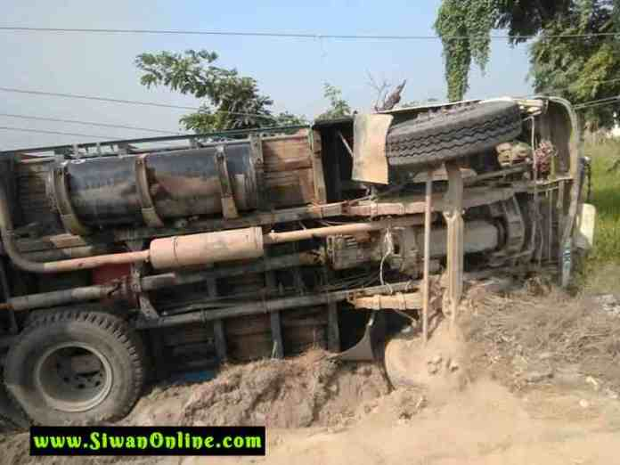 truck accident in siwan