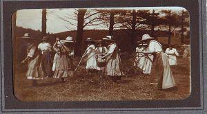 Keppeler Schülerinnen bei der Erntehilfe