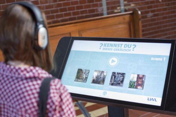 """Bei der Tagung """"Work with Sounds"""" können Teilnehmer auch ein für das LWL-Industriemuseum entwickeltes Geräusche-Quiz spielen. Foto: LWL/Weigl"""