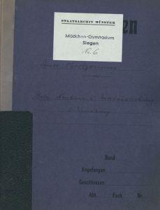 Landesarchiv NRW , Abteilung Westfalen, Staatliches neusprachliches Mädchengymnasium, Siegen, Nr. 6