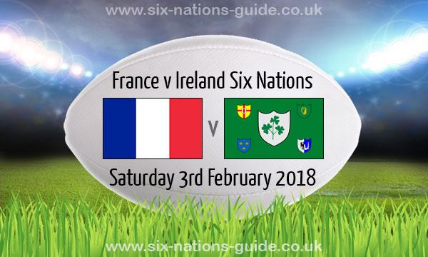 France 13 15 Ireland Six Nations 3 Feb 2018