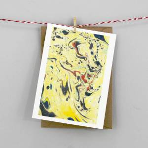 yellow marbled artwork notecards