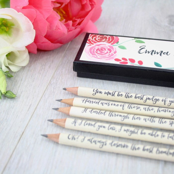 gifts for book lovers and jane austen fans by six0sixdesign emma pencils 11