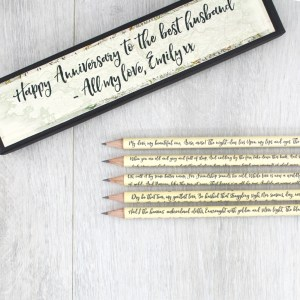 personalised Irish poetry pencil gift sets handmade by six0six design
