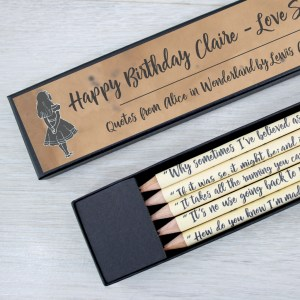 personalised message Alice in Wonderland Gifts for her
