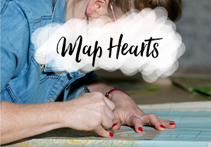 map hearts wedding and anniversary gifts