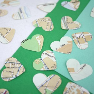 Rome map confetti for your Italian party theme six0six design