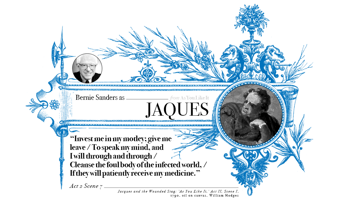 Campaign in Poetry, Govern in Prose - Bernie Sanders as Jaques