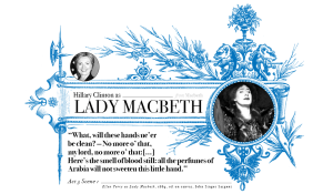 Campaign in Poetry, Govern in Prose - Hillary Clinton as Lady Macbeth