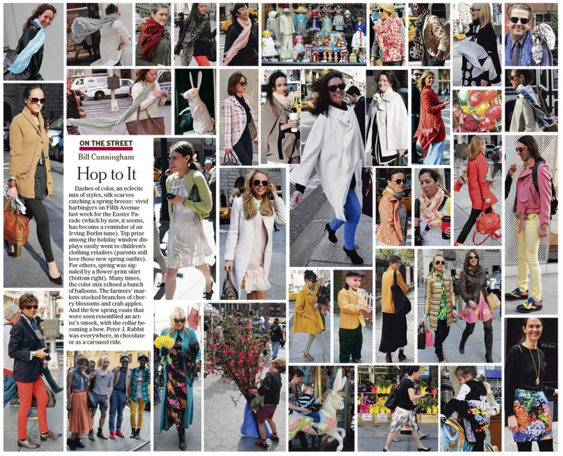 """The New York Times' """"On the Street"""" section (Source: The New York Times)"""