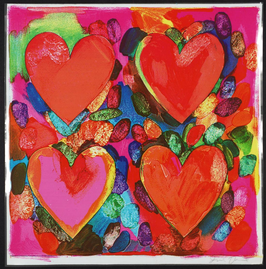 """""""Four Hearts"""" by Jim Dine (Source: Tate)"""