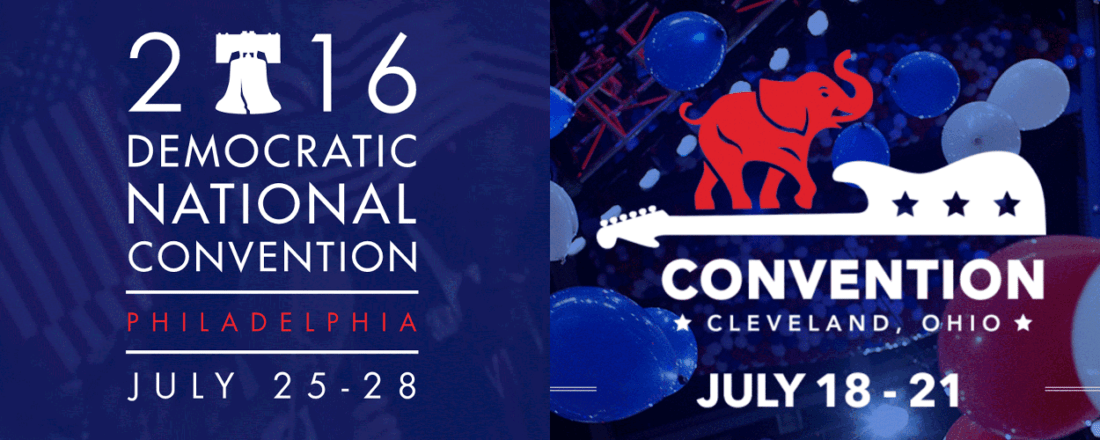 The 2016 National Conventions (Source: Various)