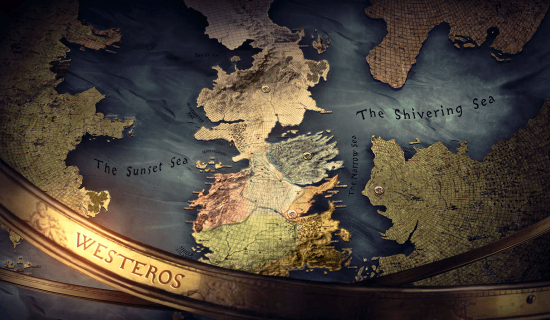 "Map of ""Game of Thrones""(Source: Art of the Title)"