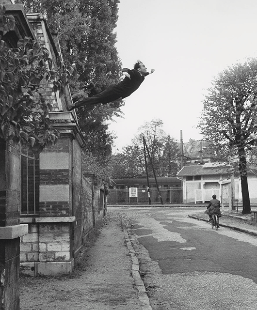 Leap into the Void by Yves Klein, gelatin silver print, 1960 (Source: The Met)