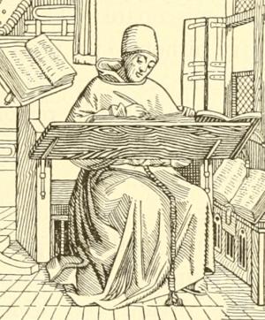 Medieval Monk (Source: Internet Archive Book Images/Flickr)