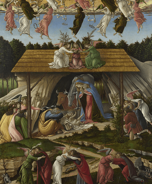 "Botticelli's ""Mystic Nativity"" (Source: Wikimedia Commons)"