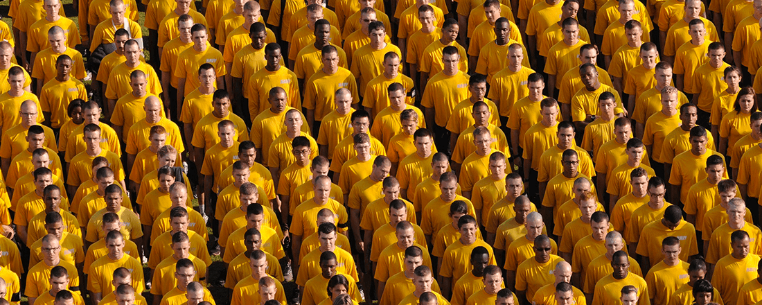 People in Yellow Shirts