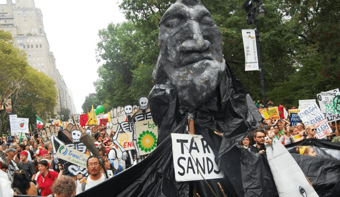 People's Climate March protest in NYC (Source: Bread and Puppet Theater/Facebook)