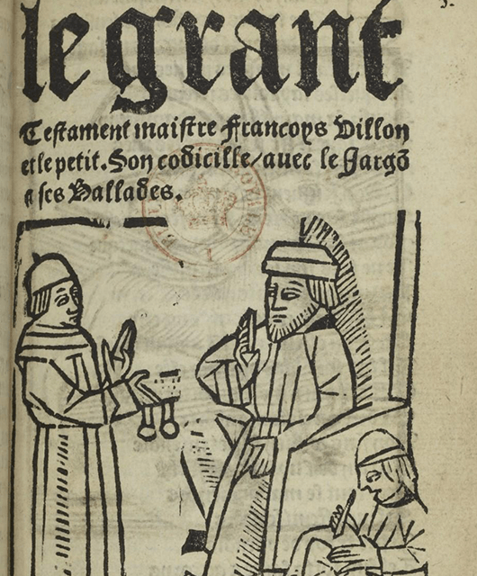 """""""Le Grant Testament,"""" one of the earliest examples of thieves' Cant (Source: Wikimedia Commons)"""