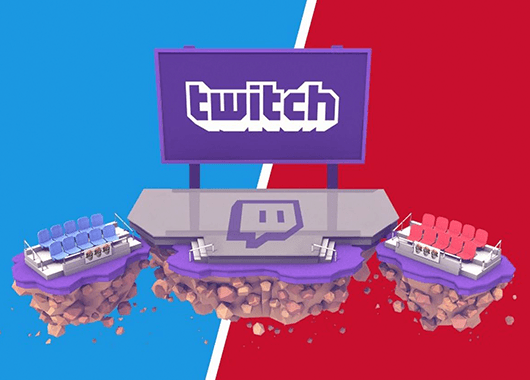 Social video platform Twitch's national convention coverage graphic (Source: Twitch/The Verve)